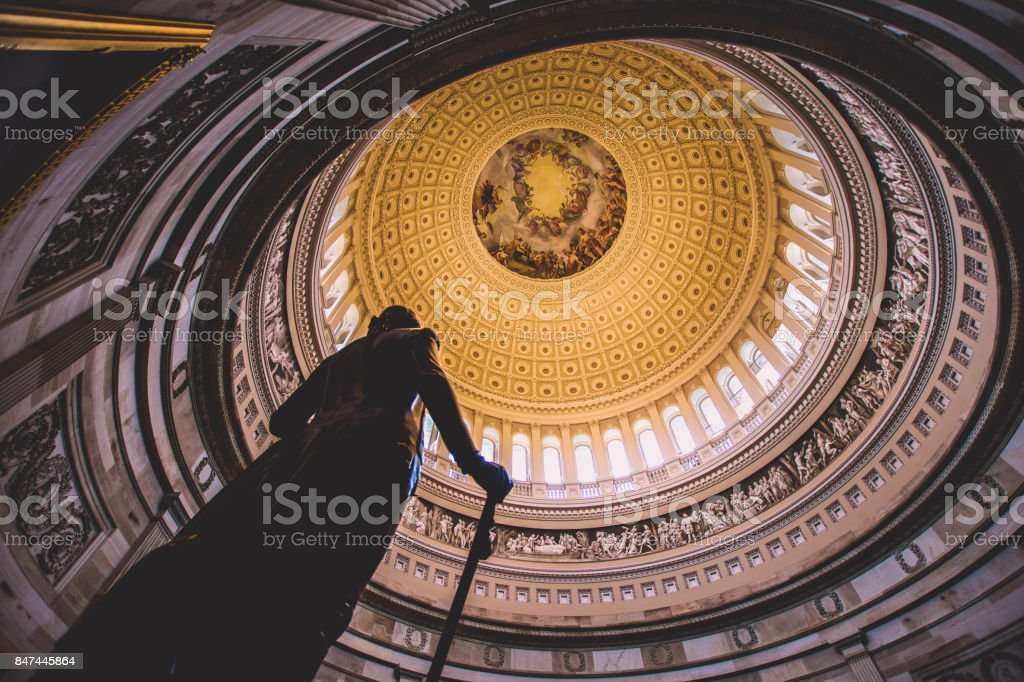 George Washington in the Capital stock photo
