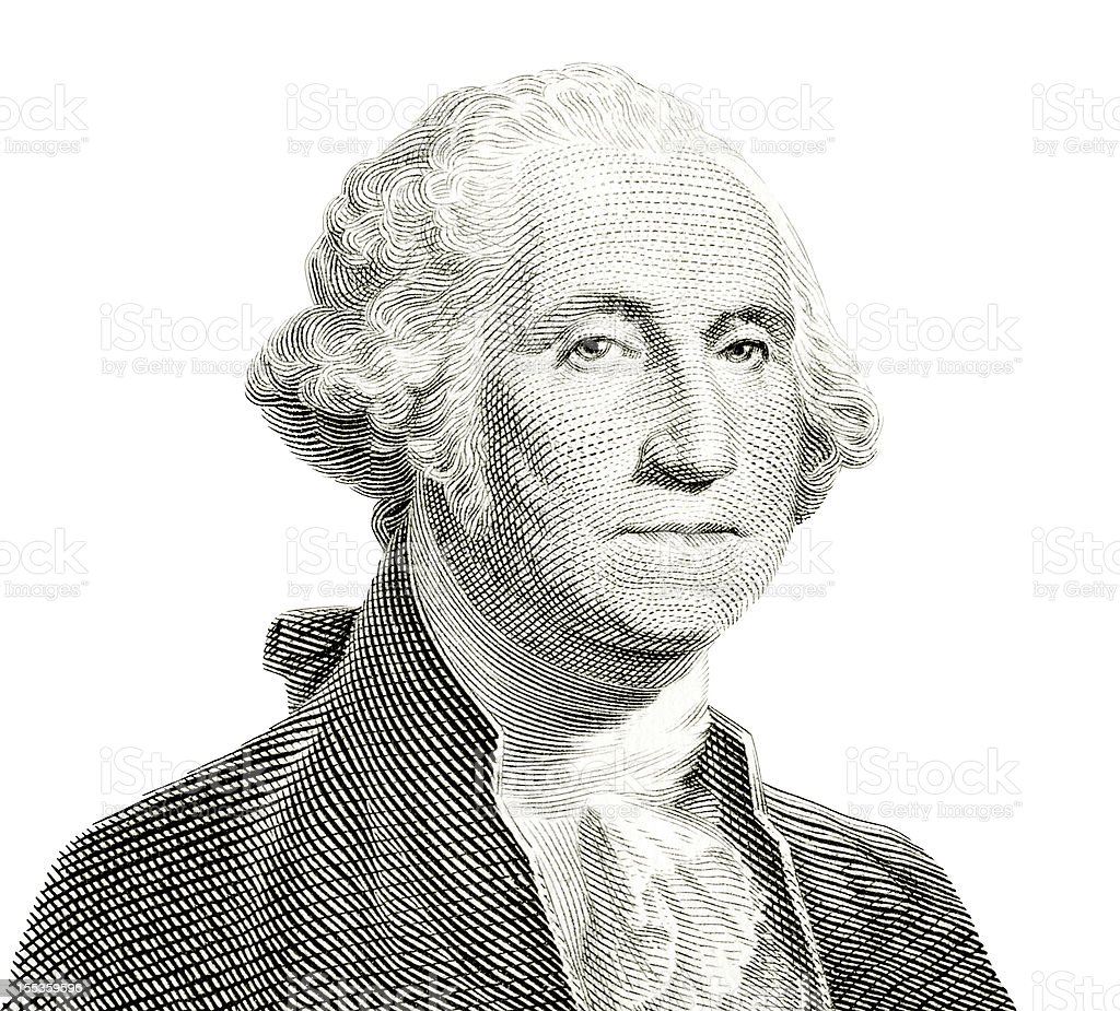 George Washington Isolated stock photo