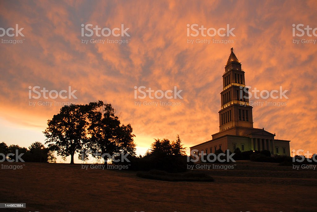 George Washington Masonic Monument stock photo