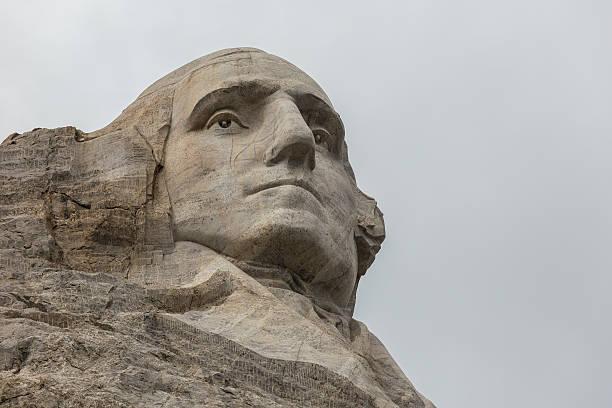 George Washington On Abraham Lincoln stock photo