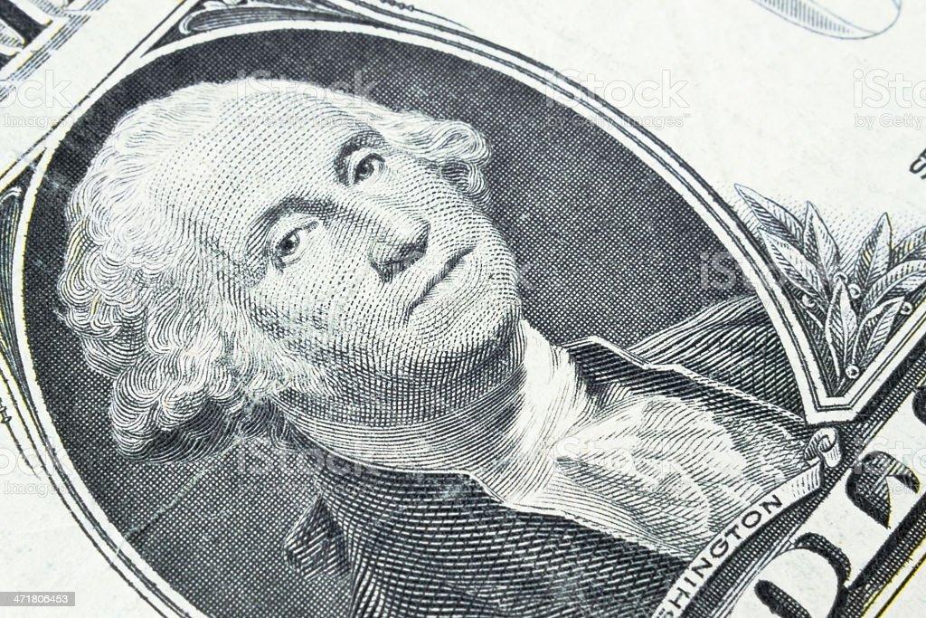 George Washington, one dollar royalty-free stock photo