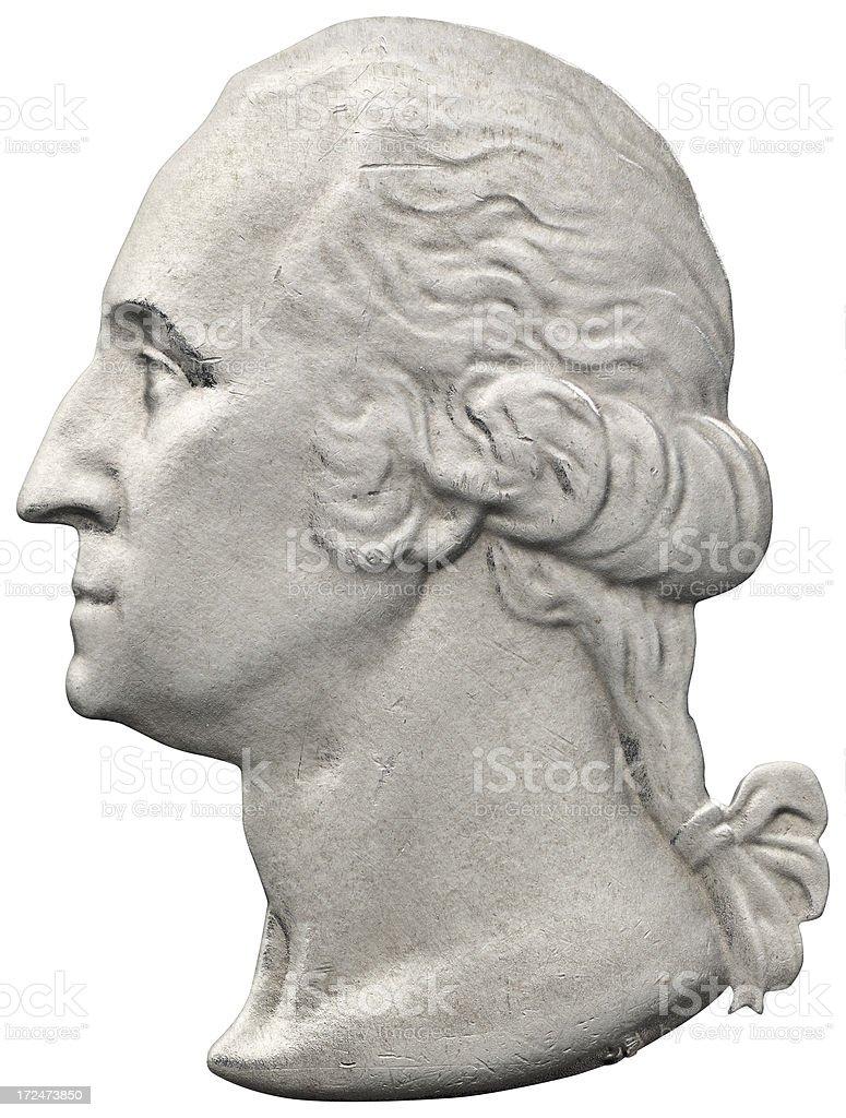 George Washington Portrait royalty-free stock photo