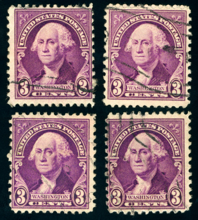 Vintage George Washington stamps