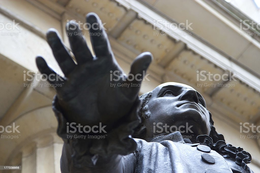 George Washington Statue at the Federal Building, NY stock photo
