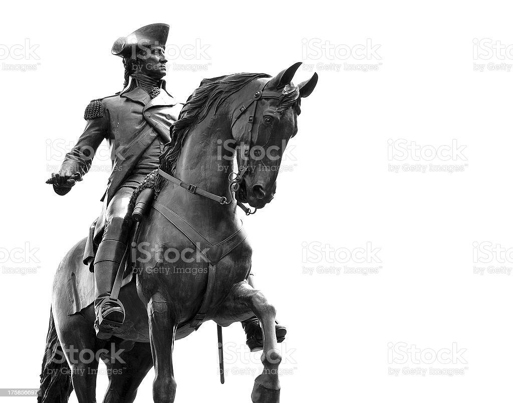 George Washington Statue, Boston MA stock photo