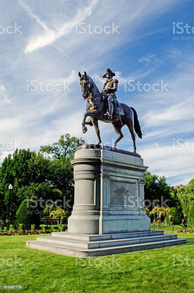 George Washington Statue in Boston Commons stock photo