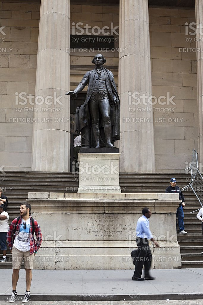 George Washington Statue in New York City stock photo