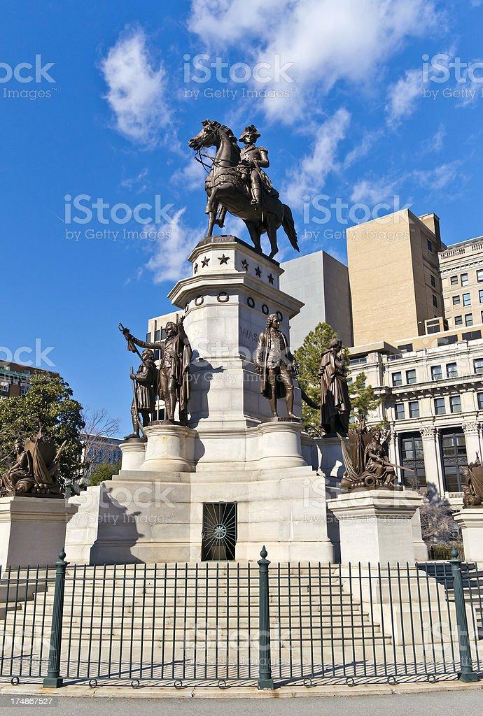 George Washington Statue In Richmond, Virginia stock photo