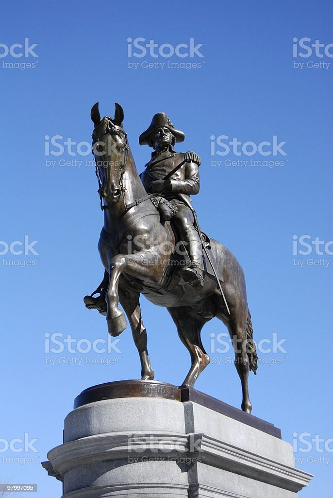George Washington Statue in the boston public garden royalty free stockfoto