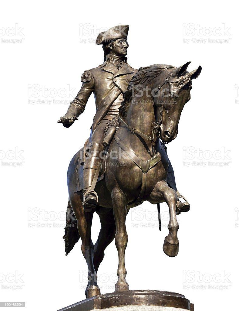 George Washington Statue Isolated on White stock photo