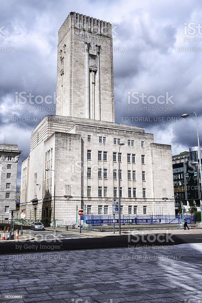 Georges Dock Ventilation and Control Station, Pier Head, Liverpo royalty-free stock photo