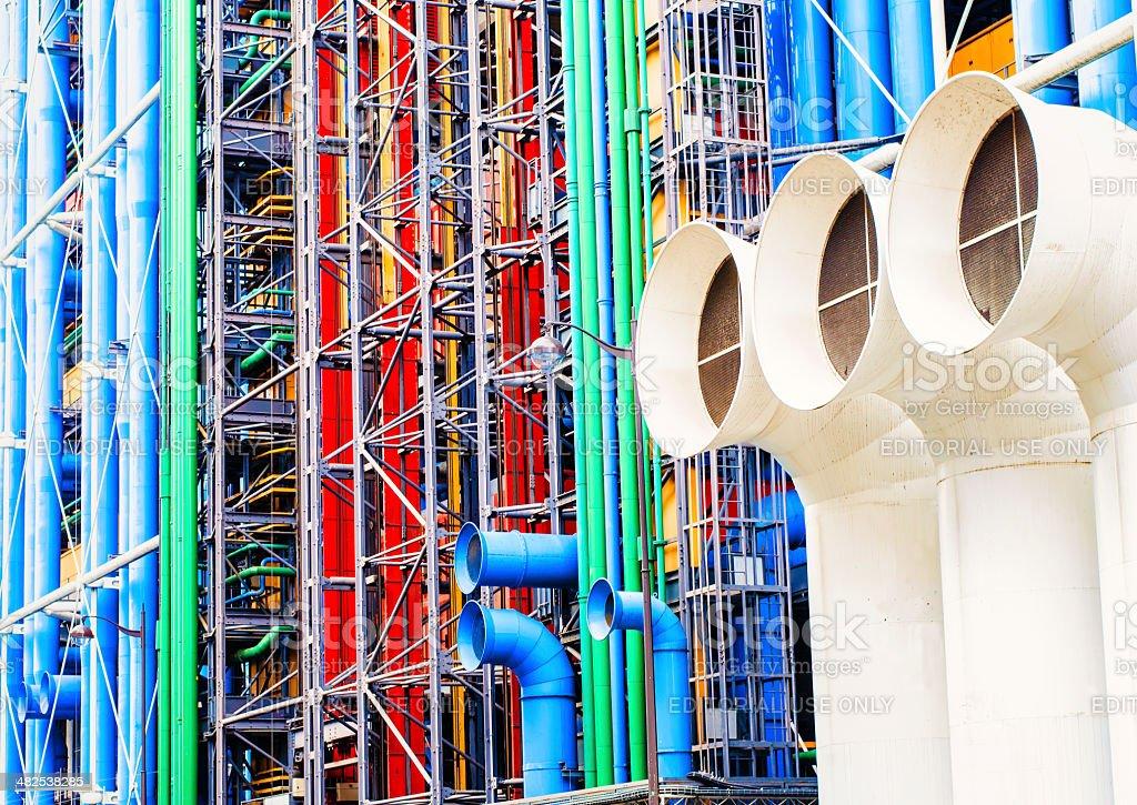 Georges Pompidou Center Paris stock photo