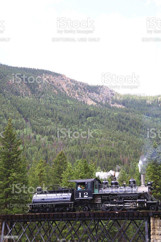 Georgetown loop tarin, Colorado royalty-free stock photo