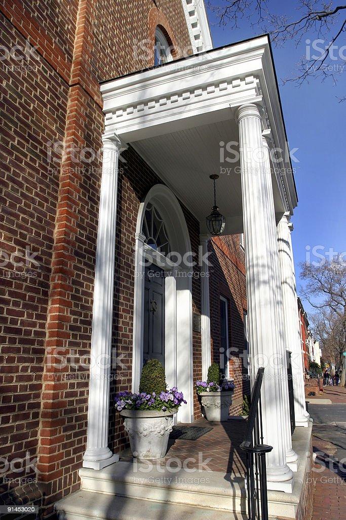 Georgetown Townhouses Washington DC royalty-free stock photo