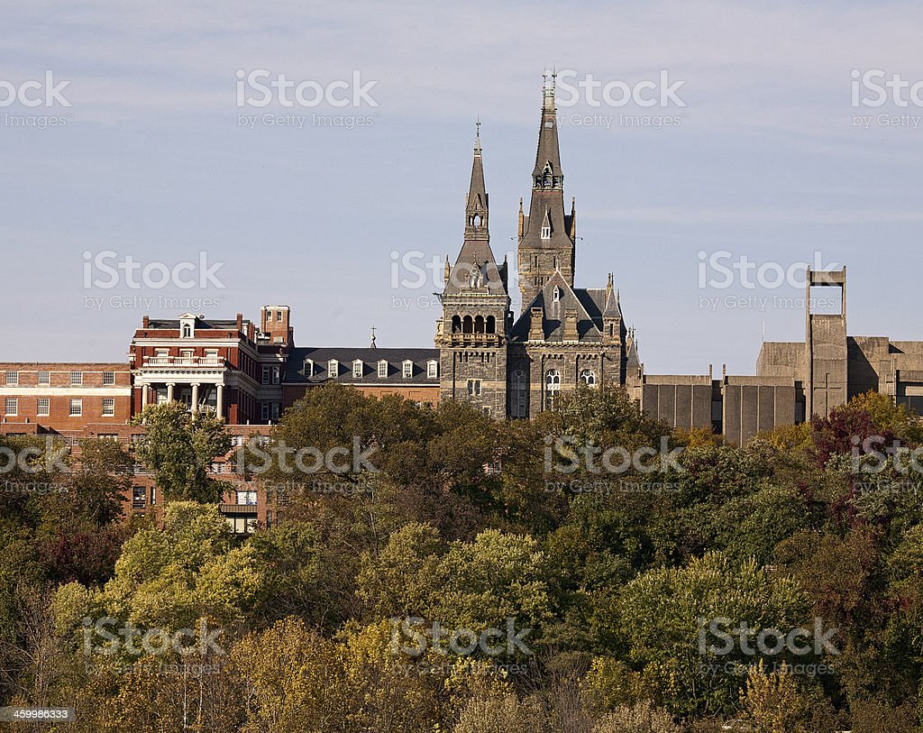 Georgetown University in Washington DC stock photo
