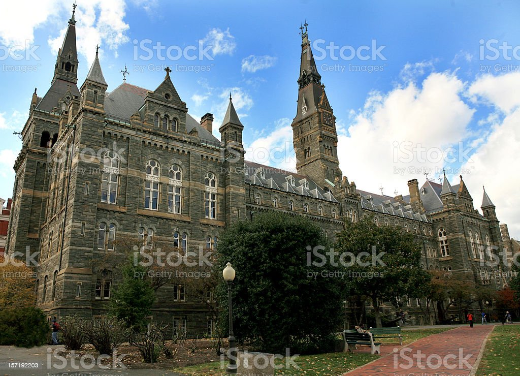 Georgetown University Washington DC stock photo