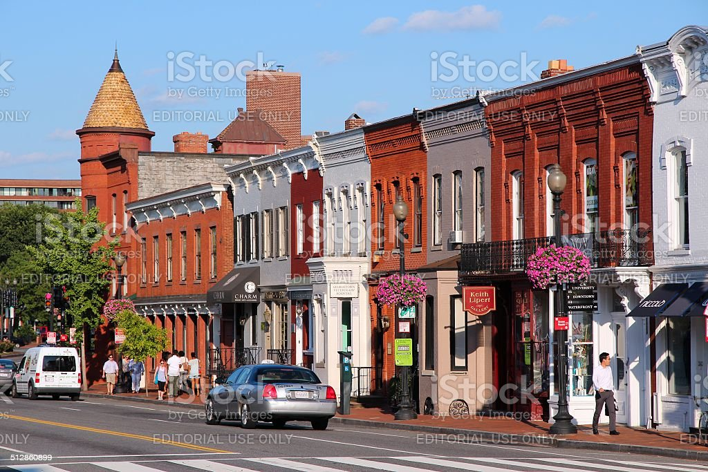 Georgetown, Washington stock photo