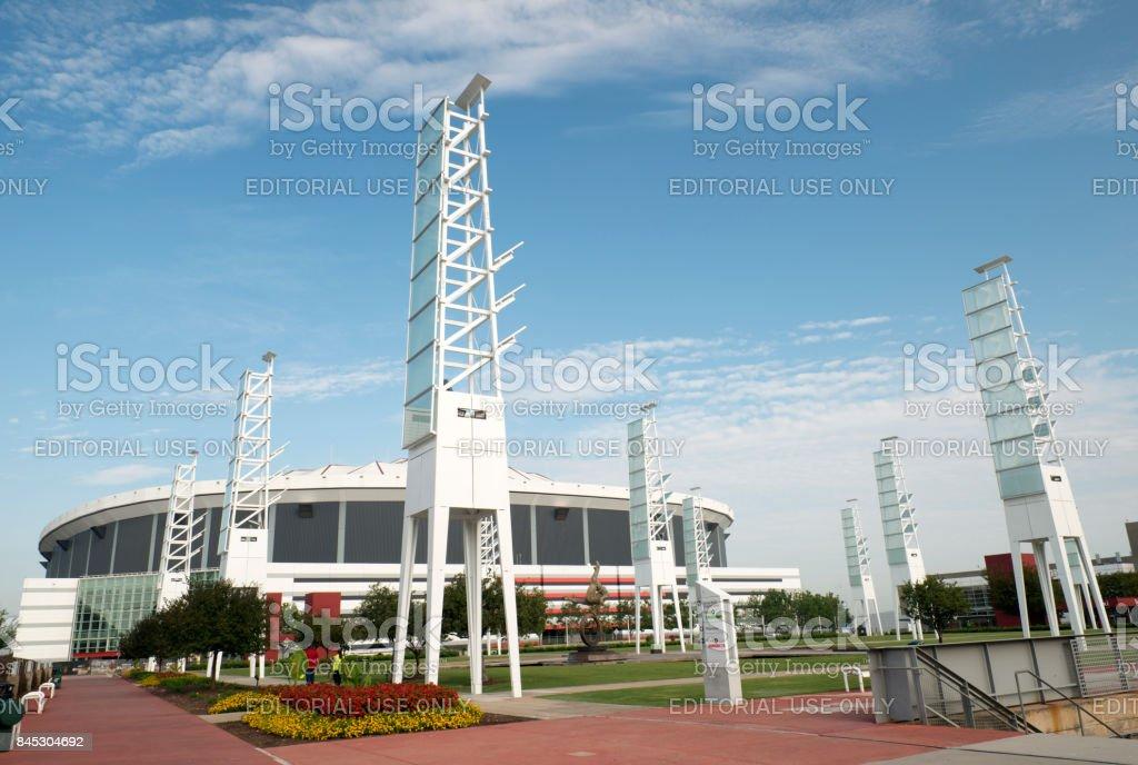 Georgia Dome in Atlanta stock photo