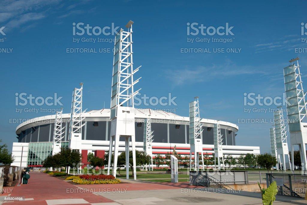 Georgia Dome in downtown Atlanta stock photo