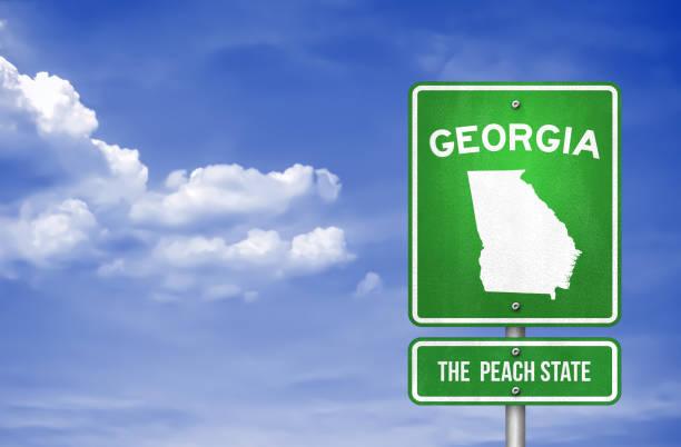 Georgien-Georgia Highway Schild-Illustration – Foto