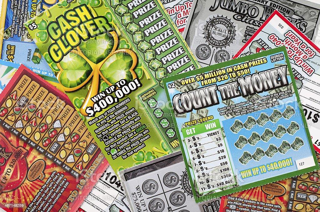 Georgia Lottery Tickets stock photo