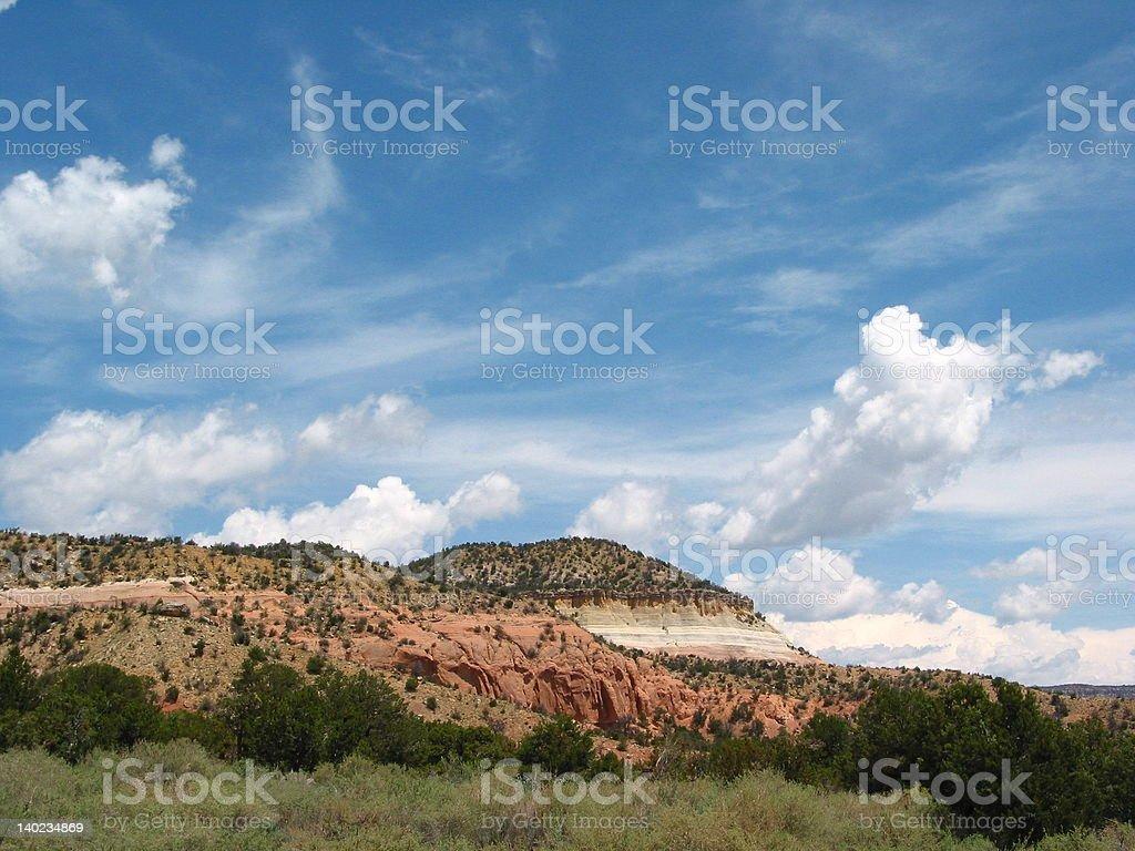 Georgia O'Keeffe Country Near Abiquiu, New Mexico stock photo