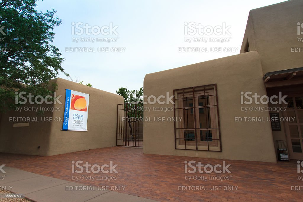 Georgia O'Keeffe Museum in Santa Fe, NM stock photo