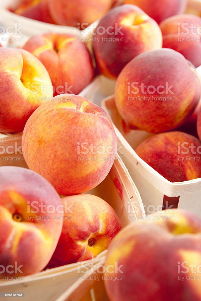 Georgia Peaches royalty-free stock photo