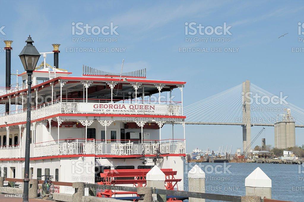 Georgia Queen Riverboat stock photo