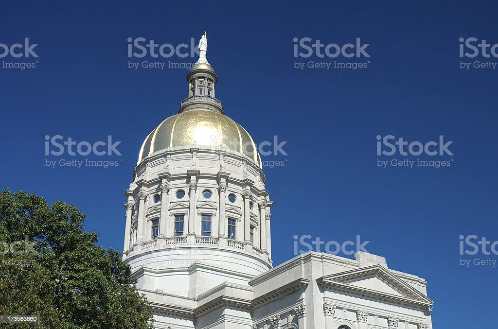 Georgia State Capital Building stock photo