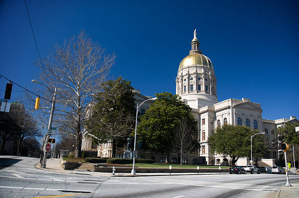 Georgia State Capitol, Atlanta (USA) stock photo