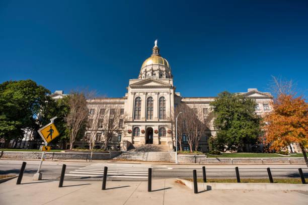 Georgia State Capitol building in Atlanta USA stock photo