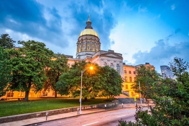 Capitolio del Estado de Georgia - foto de stock
