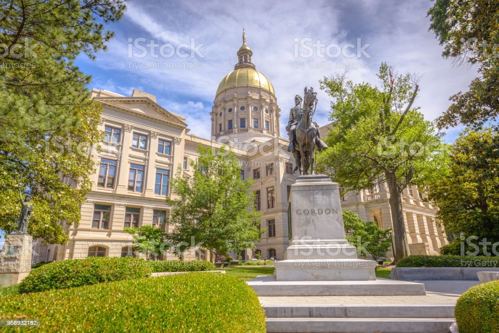 Georgia State Capitol stock photo