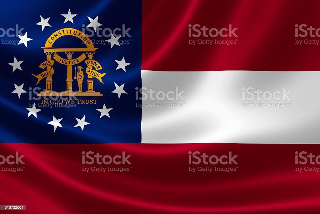 Georgia State Flag stock photo