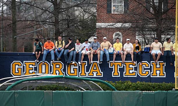 Georgia Tech students stock photo