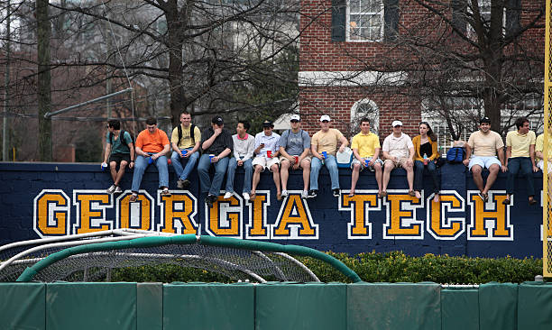 Georgia Tech students stock photo
