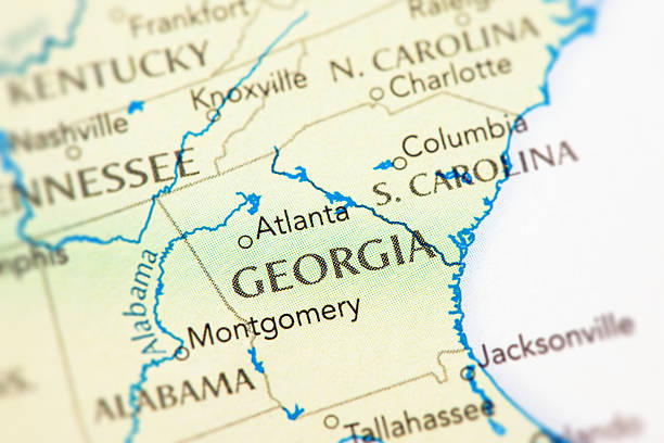 Georgia Map Pictures Images And Stock Photos IStock - Georgia map usa