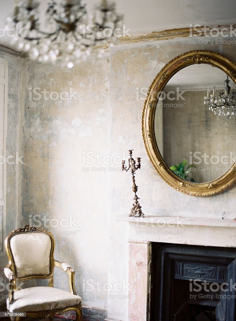 Georgian architecture and decor stock photo