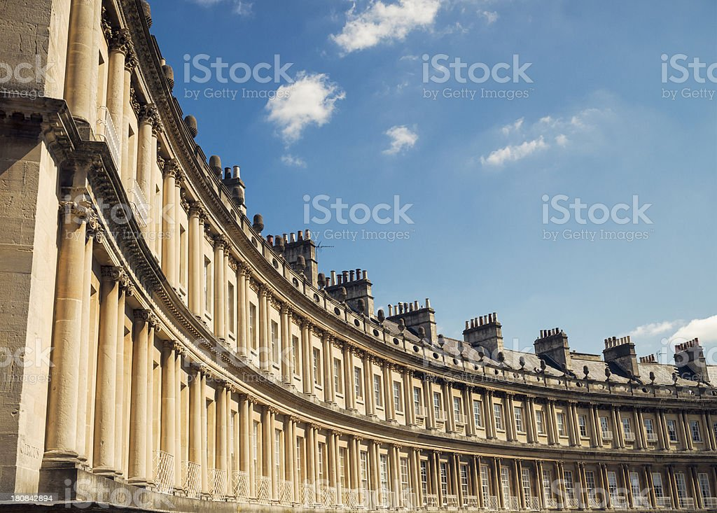 Georgian Architecture - The Circus in Bath stock photo