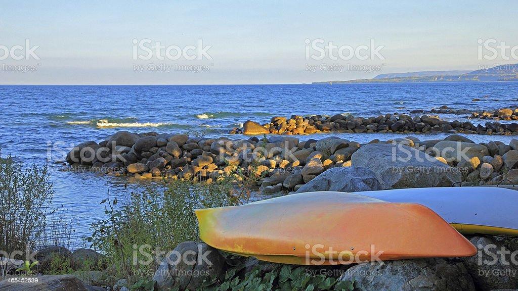 Georgian Bay Beach royalty-free stock photo