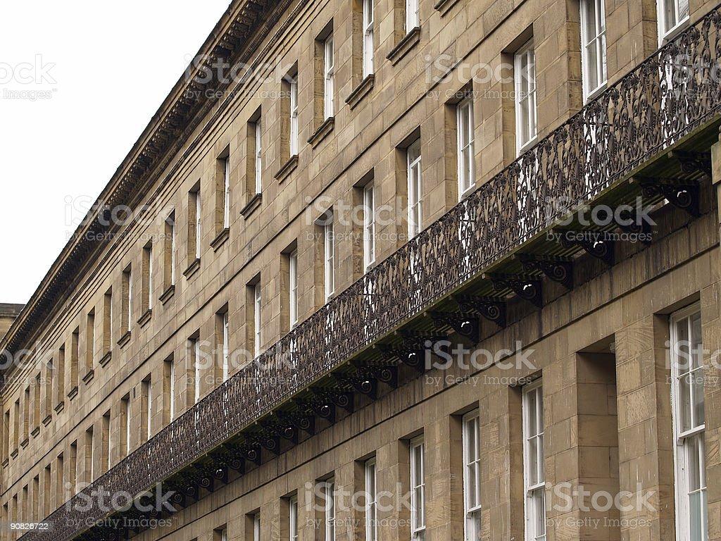 Georgian Building Facia royalty-free stock photo