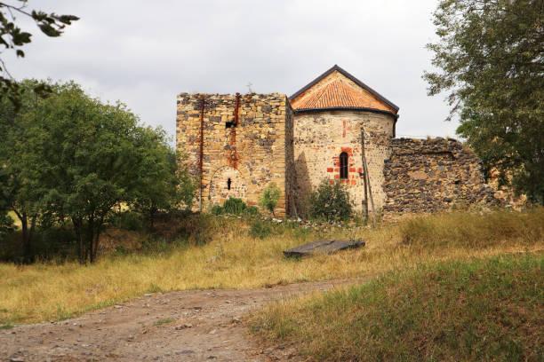 Georgian Church in Dmanisi stock photo
