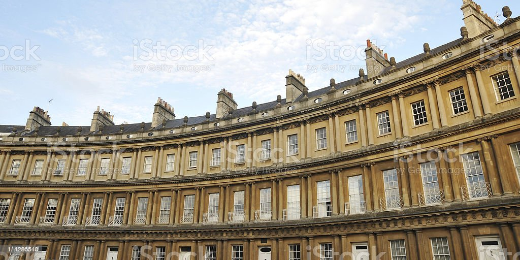 Georgian Crescent in Bath England royalty-free stock photo