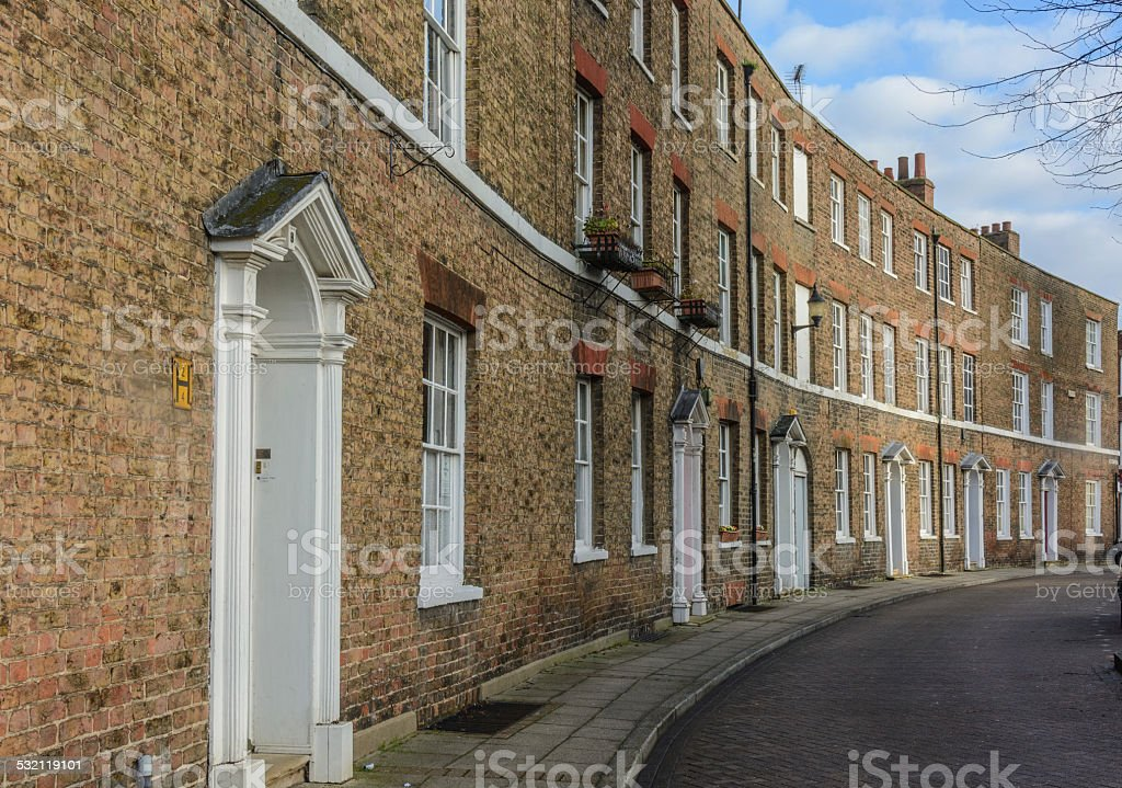 Georgian curved streets stock photo