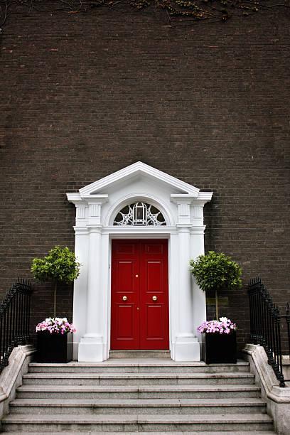 Georgian Door with copyspace stock photo