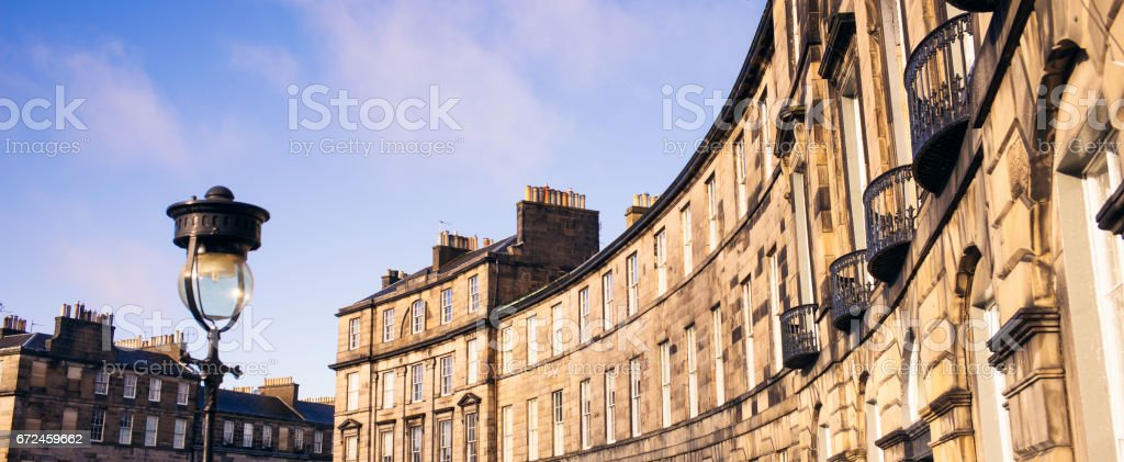 Georgian Edinburgh stock photo