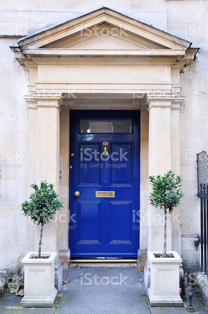 Georgian House Door stock photo