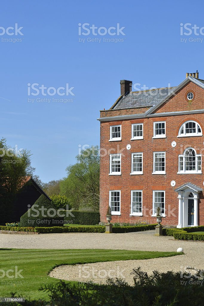 Georgian house in portrait view royalty-free stock photo