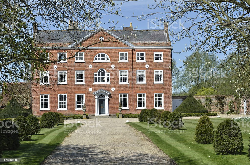 Georgian House with Drive royalty-free stock photo